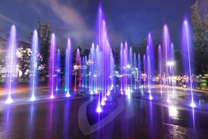 Baguio Burnham Park Rose Garden Fountains
