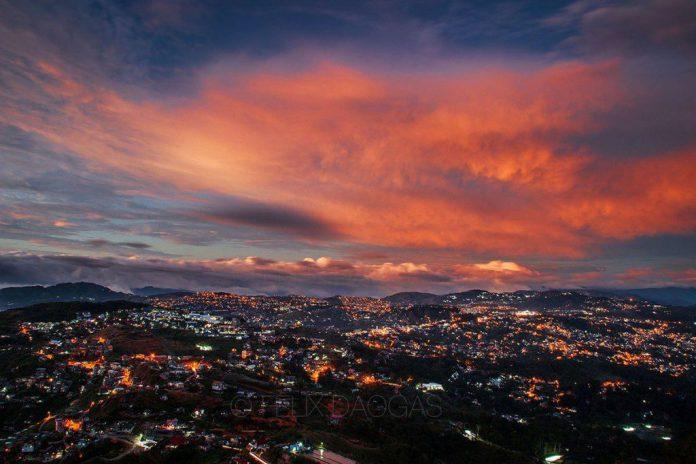 Beautiful Sky Over Baguio